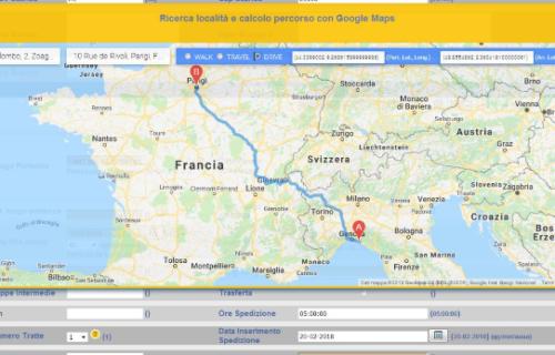 Visualizzazione grafica di viaggi e spedizioni